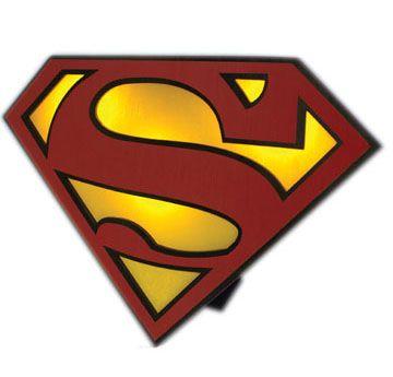 Superman lampe logo for Bureau 39 superman